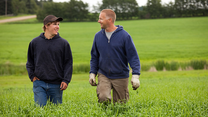 Father and Son Farmers